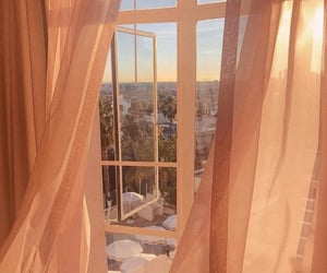 aesthetic, window, and curtains image
