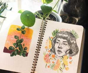 aesthetic, diary, and drawing image