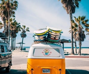 summer, beach, and vans image