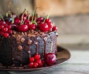 chocolate cake, dark chocolate, and yummy image