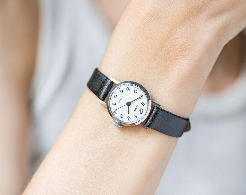 woman watch vintage, small lady watch, and minimalist watch her image