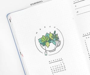 bullet journal, journal, and organization image