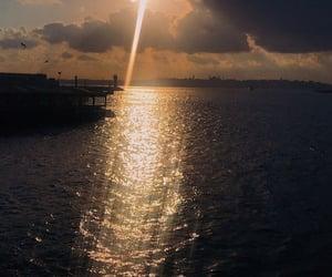 night, shine, and sea image