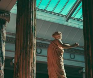 art, column, and greek image