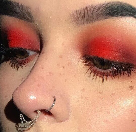 article, eyebrow, and piercing image