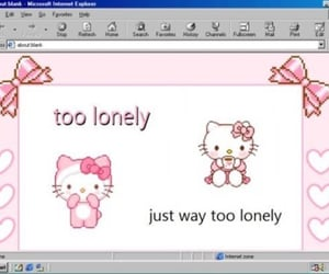 aesthetic, hello kitty, and lonely image