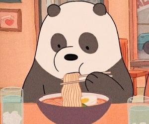 panda, we bare bears, and cartoon image