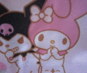 kuromi, my melody, and pastel image