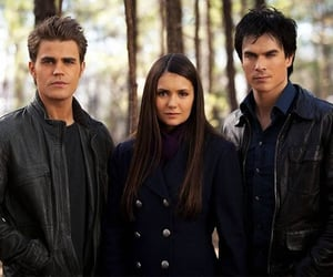 the vampire diaries, Nina Dobrev, and damon image