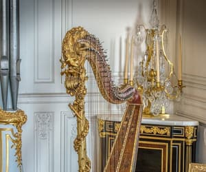 aesthetic, france, and gold image