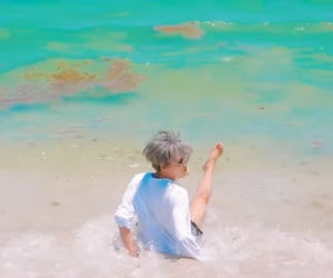 asian boy, beach, and boy image