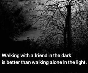 alone, black, and night image
