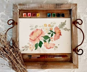 art, vintage, and watercolors image