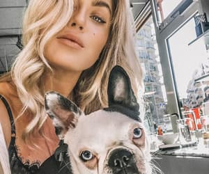 blonde, angelica blick, and dog image
