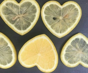 lemon, food, and heart image