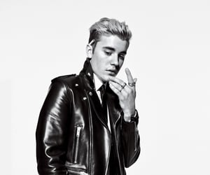 black and white, justin bieber, and justin image
