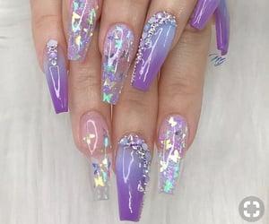 nails, purple, and nail goals image