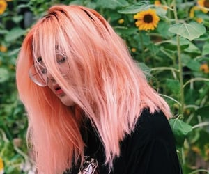 hair, pink, and hair colour image