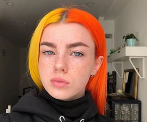 hair, orange, and hair colour image