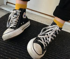 converse, black, and yellow image