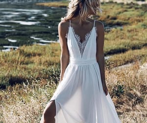 dress, fashion, and whitedress image