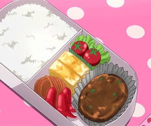 anime, food, and gif image