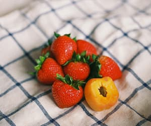 strawberry, apricot, and fruit image