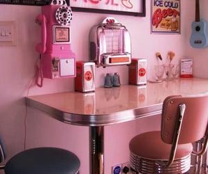 pink, cafe, and vintage image