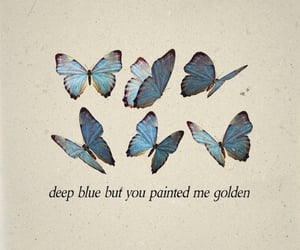 quotes, butterfly, and blue image
