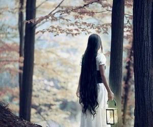 forest, girl, and long hair image