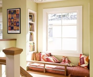 home decor, home interior, and reading area image
