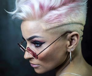 pink, short hair, and pixie image