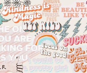 Collage, rainbow, and words image