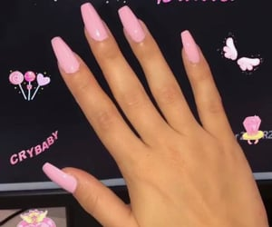 nails, pink, and barbie image