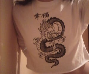 clothes, japanese, and dragón image