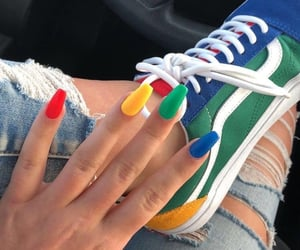 nails, vans, and aesthetic image