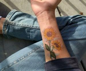 sunflower and tattoo image