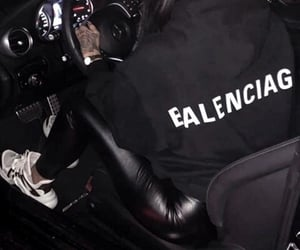 girl, Balenciaga, and car image