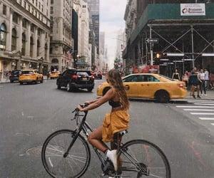 city, bike, and travel image