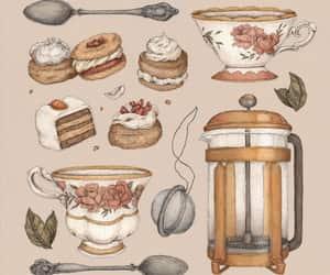 art, dessert, and painting image
