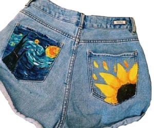 paint, shorts, and summer image