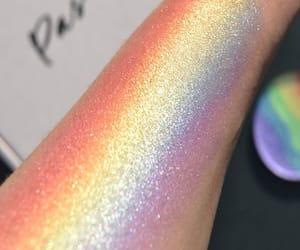 rainbow, makeup, and glitter image