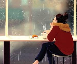 illustration and rainy day image