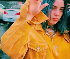 billie eilish, billie, and yellow image