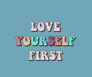 love, love yourself, and blue image