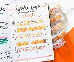 kawaii, orange, and planner image