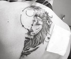 ink, inked, and lion tattoo image