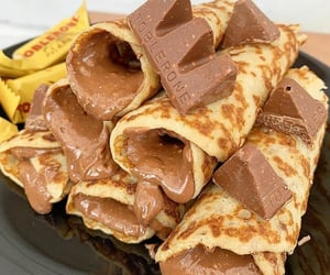 food, chocolate, and toblerone image