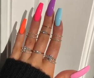 nails, summer, and trend image