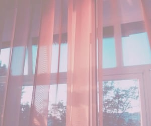 curtain, pink, and wallpaper image